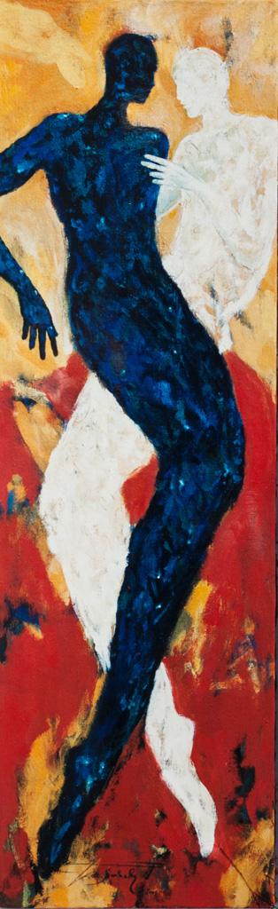 itempera auf Karton 25,3 x 70 cm 2001
