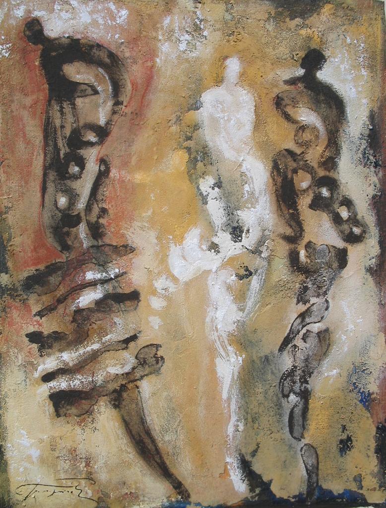 Oneiroi Eitempera, Marmor auf Karton